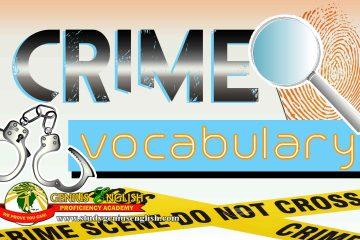 crime terminologies