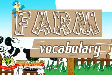 Words list regarding farm