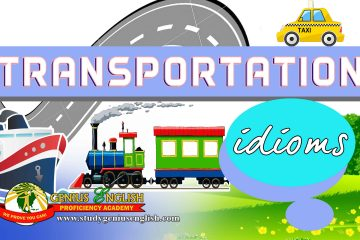 idioms regarding transportation