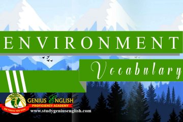 English Vocabulary about environment
