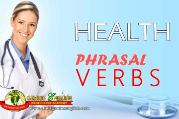 List of phrasal verbs related to health
