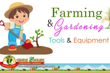 farming and gardening tools examples