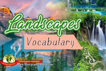 landscapes terminology