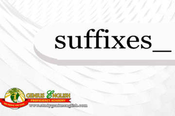 Suffix meaning and example